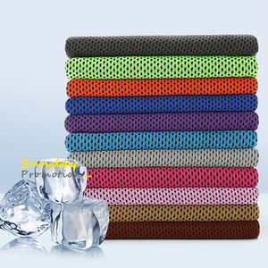 China manufacturer 100% polyester fabric materials for cooling towel