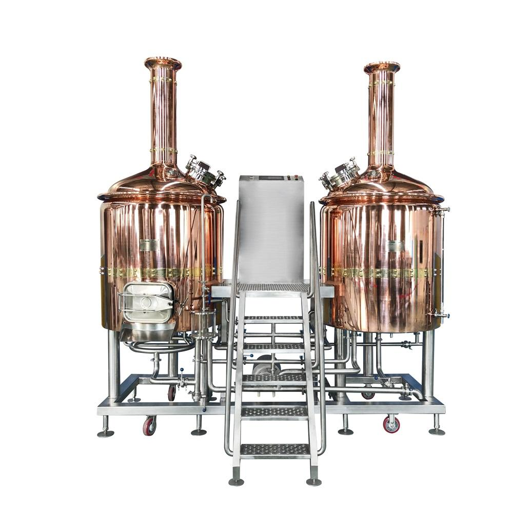 Bar pub equipment red copper 300L 500l 1000L automatic commercial red copper beer brewing machine