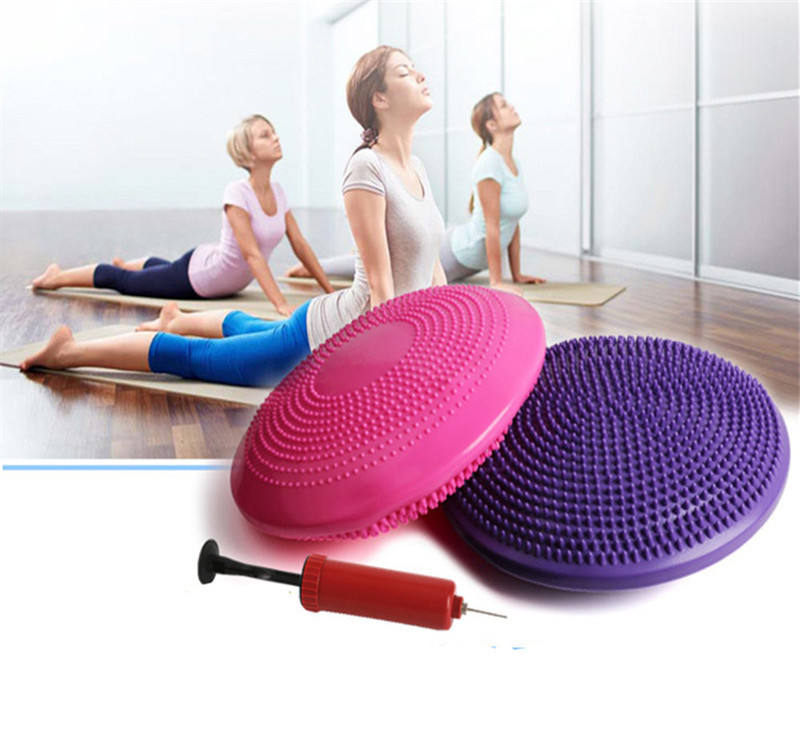 Anti-riot Balanced Yoga Massage Plate Cushion Stability Disc Balance Wobble Pad Ankle Knee Board Massage Ball Mat