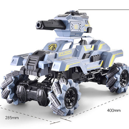 2020 Amazon new hot sale 1:10 remote control High speed drift tank launch water bomb combat vehicle toys; rc shooting tank