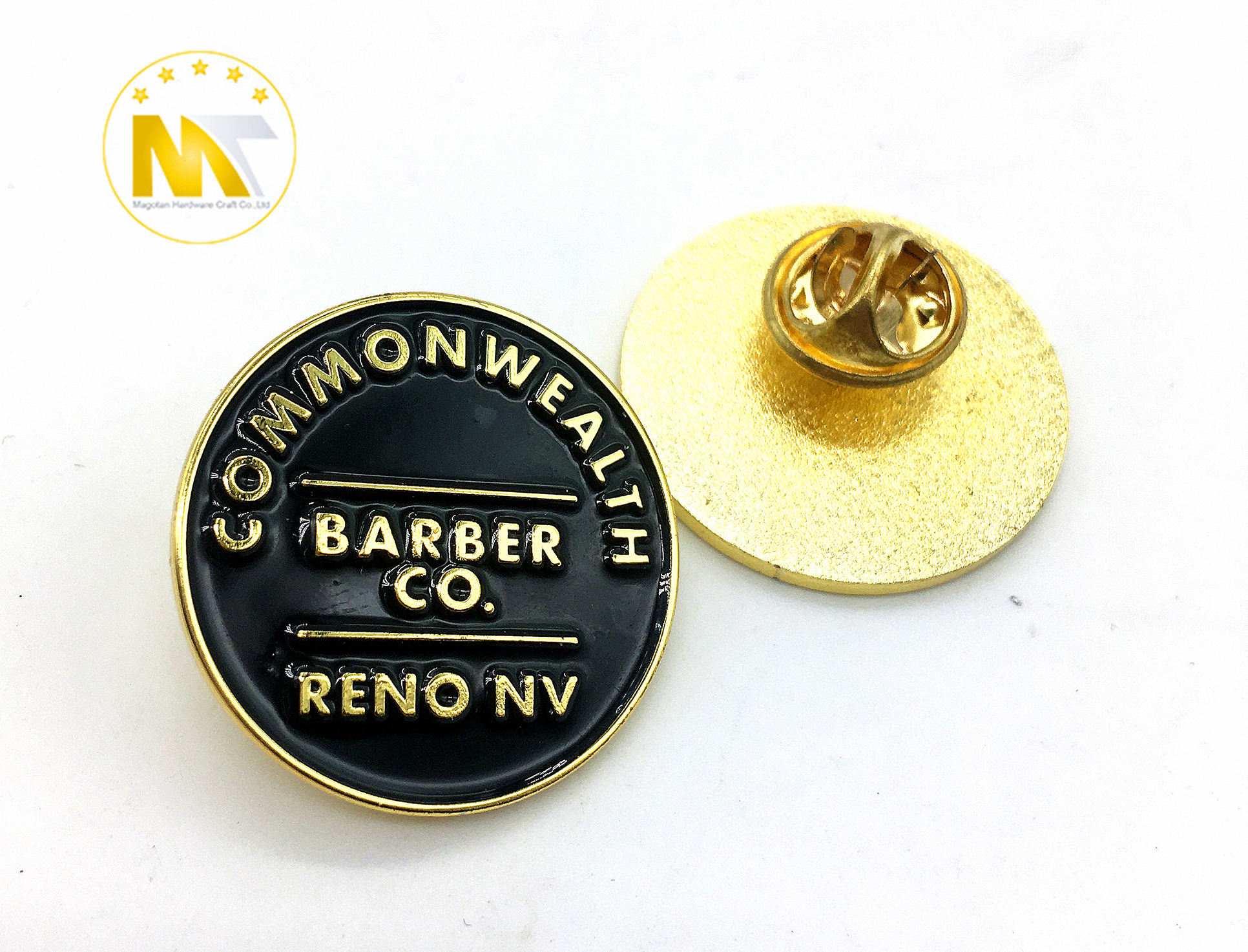 China supplier direct sale customized 2D soft enamel black plated lovely badge pin