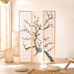 Panel Shoji  Wood  Screen Room Divider 3  Panel   ( Black, White)