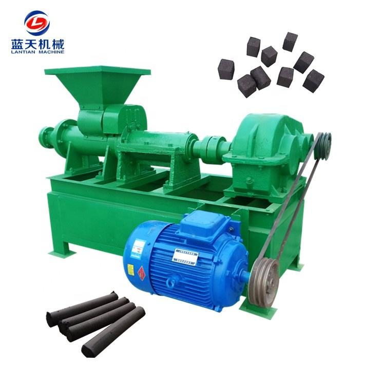 wood charcoal bbq rice husk charcoal briquette extruding machine