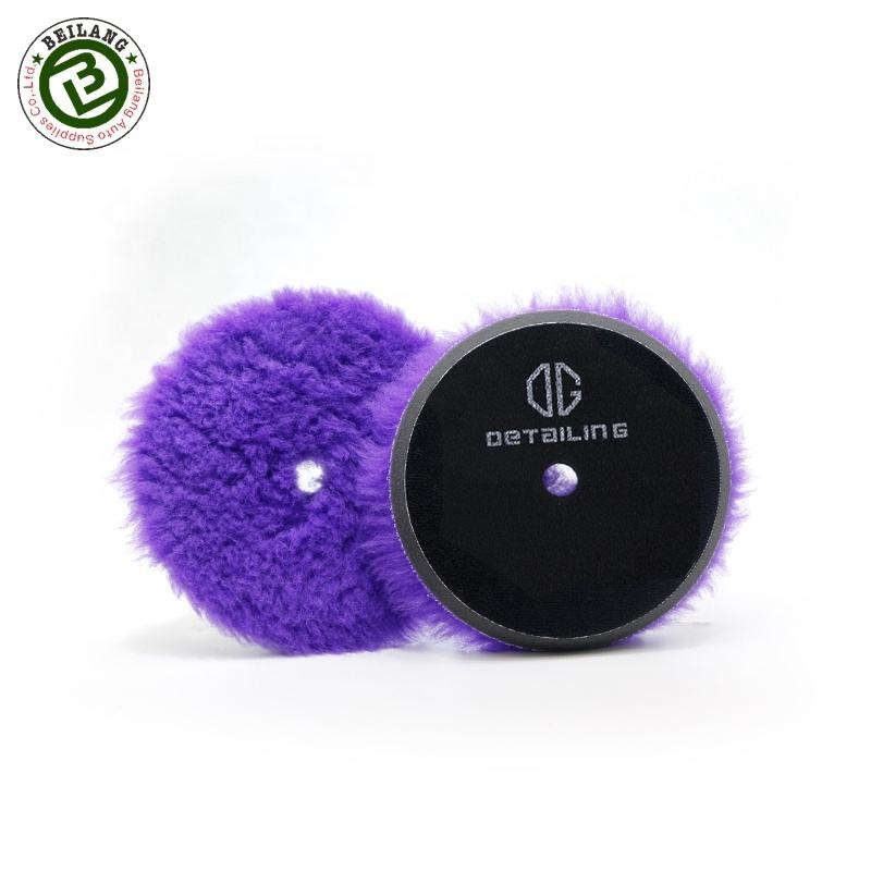 No Swirls 6inch Soft Car Polishing Wool Buffing Pads For Auto Care