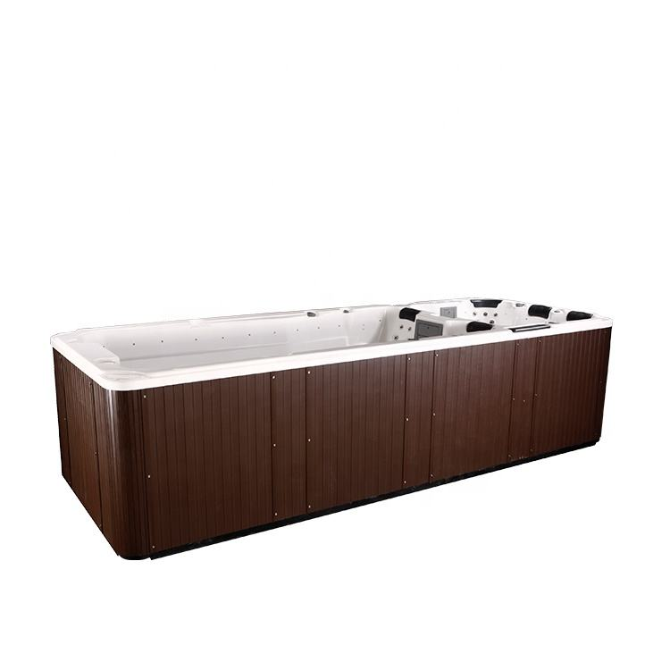 Hot Sale Rectangular Big Swim Spa Outdoor Whirlpool Luxury Hot Tub