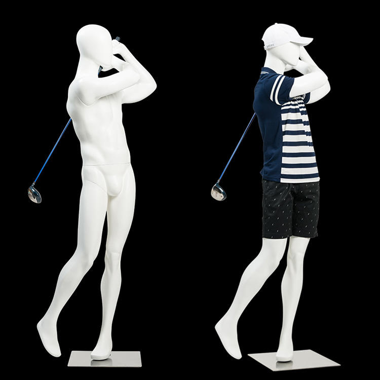 Playing Golf Movable Male Mannequin For Sport Garments Display