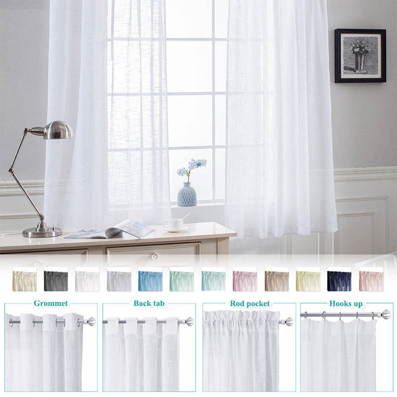 White sheer curtain linen look sheer curtain fabric curtains for the living room //