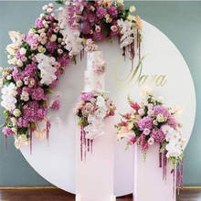IFG flowers artificial wedding arches for sale purple 2m diameter rose arch