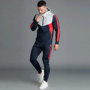 Two pieces sportswear sweatsuit running jogging suit wholesale men gym clothes fitted muscle fit tracksuits training