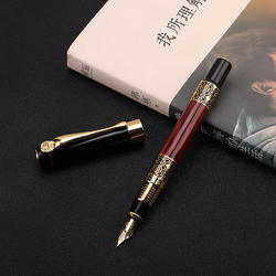 Office stationery high quality classical fountain pen gift wood grain high-grade business pen metal signature fountain pen