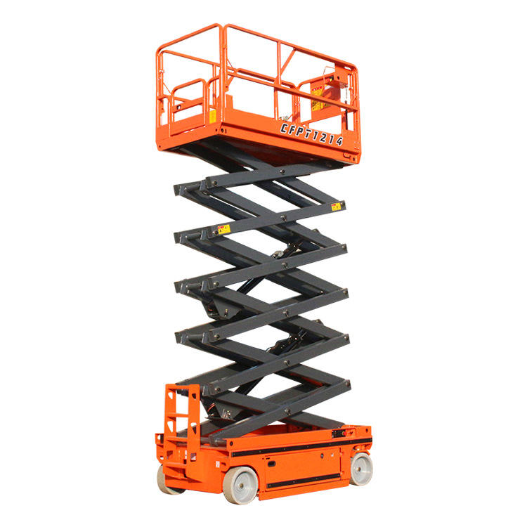 Hydraulic aerial working platform self-propelled scissor mobile lift