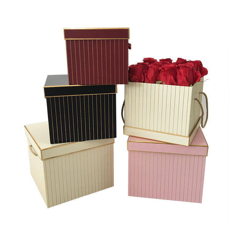2020 Changyi wholesale flower boxes Plain Flower Box Cardboard Waterproof Flower Pack Box Valentine's Day Florist Gift