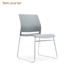 Office Visitor Chair Training Chairs Hot Sale Cheap Plastic Stackable PP Customized Office Furniture Metal 3 Years Steel Legs