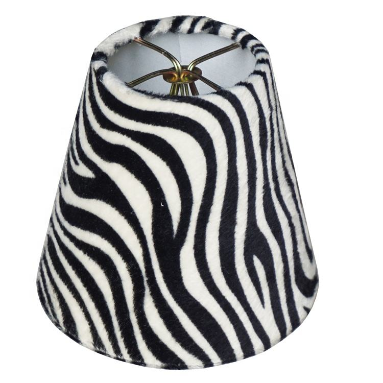 High Quality Oem/odm Service Zebra Pattern Printing Fabric Lampshade Cover
