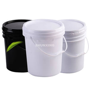 Wholesale custom printed 20L 30L food grade plastic pail bucket with lids