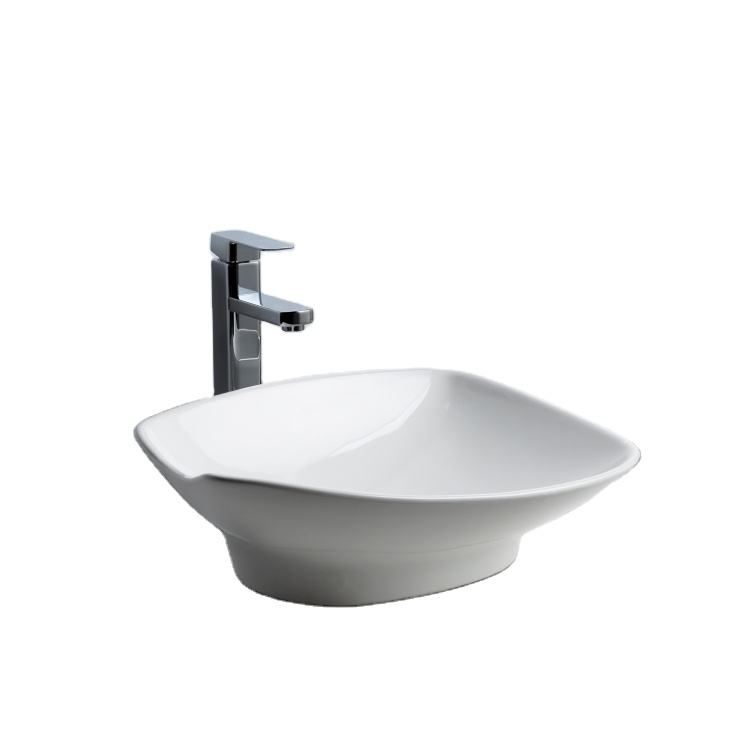 2020 new ceramic self-cleaning art basin Irregular embedded bathroom sink Thailand bathroom sink