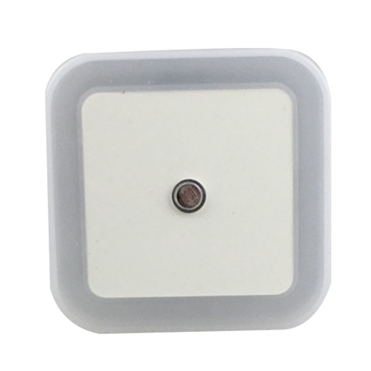 US EU plug in square shape LED sensor Night Light Lamp with Auto Dusk to Dawn Sensor for Baby Bedroom W081