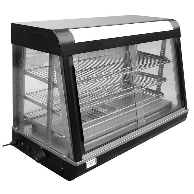 Hot Sale Restaurant Kitchen Equipment Electric Curved Glass Warming Showcase /Heated Food Display BN-1200.R