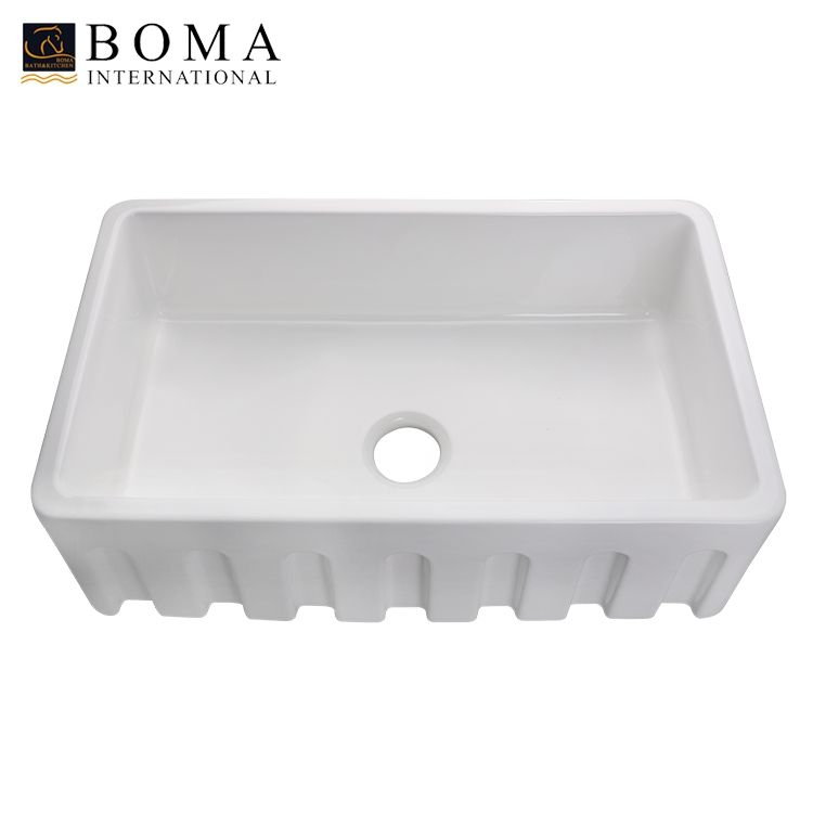 New 33 Inch Ceramic Single Bowl Farmhouse Kitchen Sink