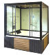 italian steam shower cabin/ steam bath box/ steam room with tub