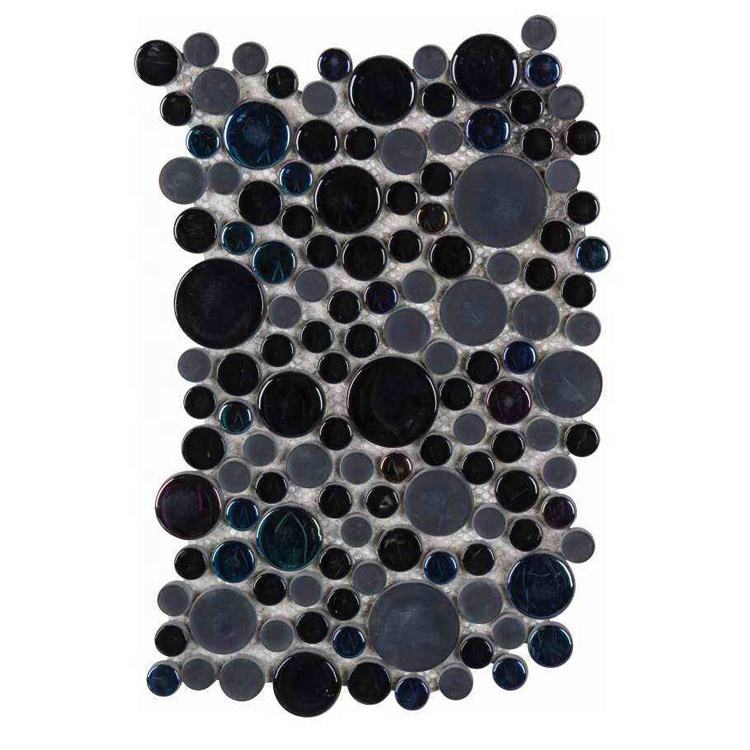 Black glass mosaic 3d bathroom tile price of tiles and marbles porcelain