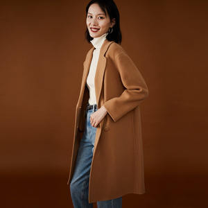 Naivee winter high quality new style woolen camel women long coat