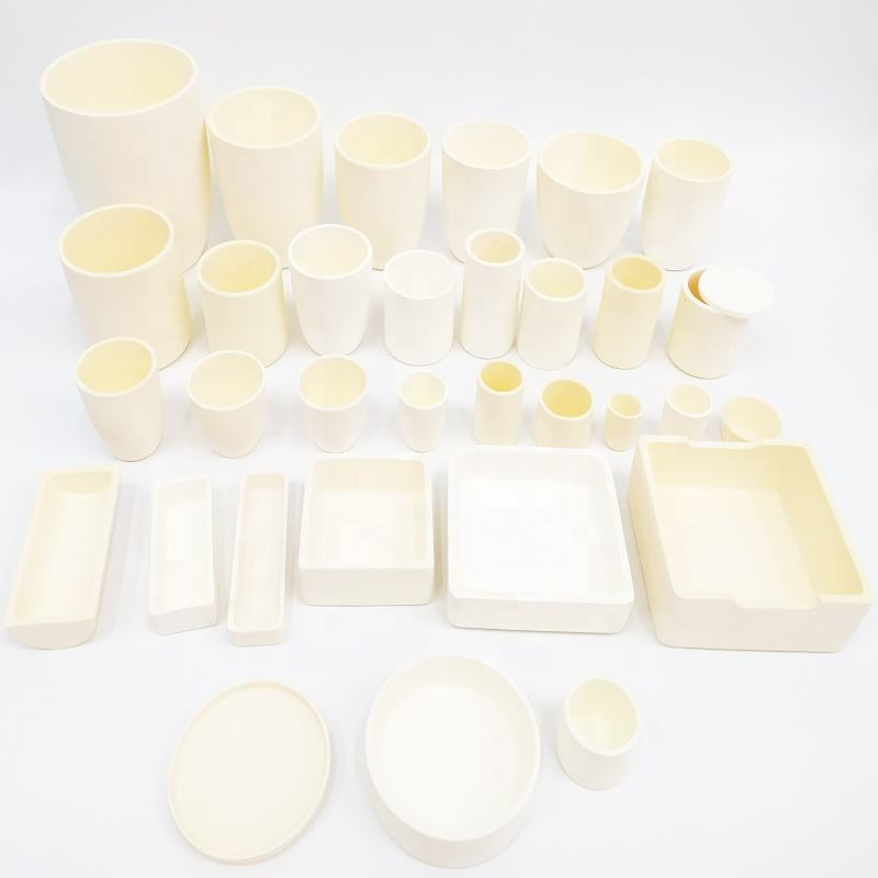 Alsint C799 Al2o3 99.7% 99% Alumina Ceramic Crucible for Glass Melting Pot