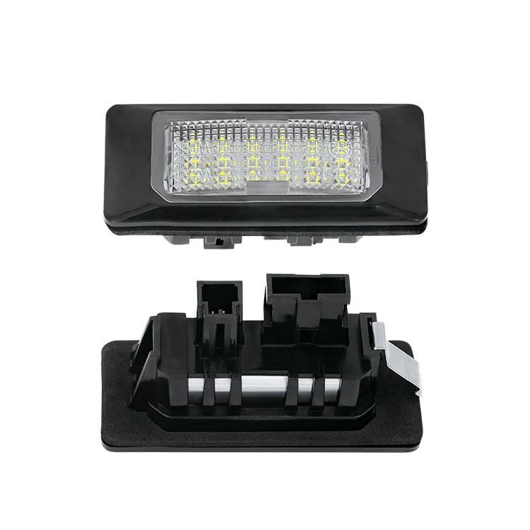 Car led license number plate light for Audi A1 A4 Q5 for VW GOLF6 for SEAT for SKODA Fabia with resistor