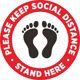 keep social distance floor tag decal sign stickers waterproof label accept custom design poster
