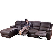 Modern American Style Three Seat Reclining Manual Seater Electric Control Motor Royal Set Furniture Living Room Recliner Sofa