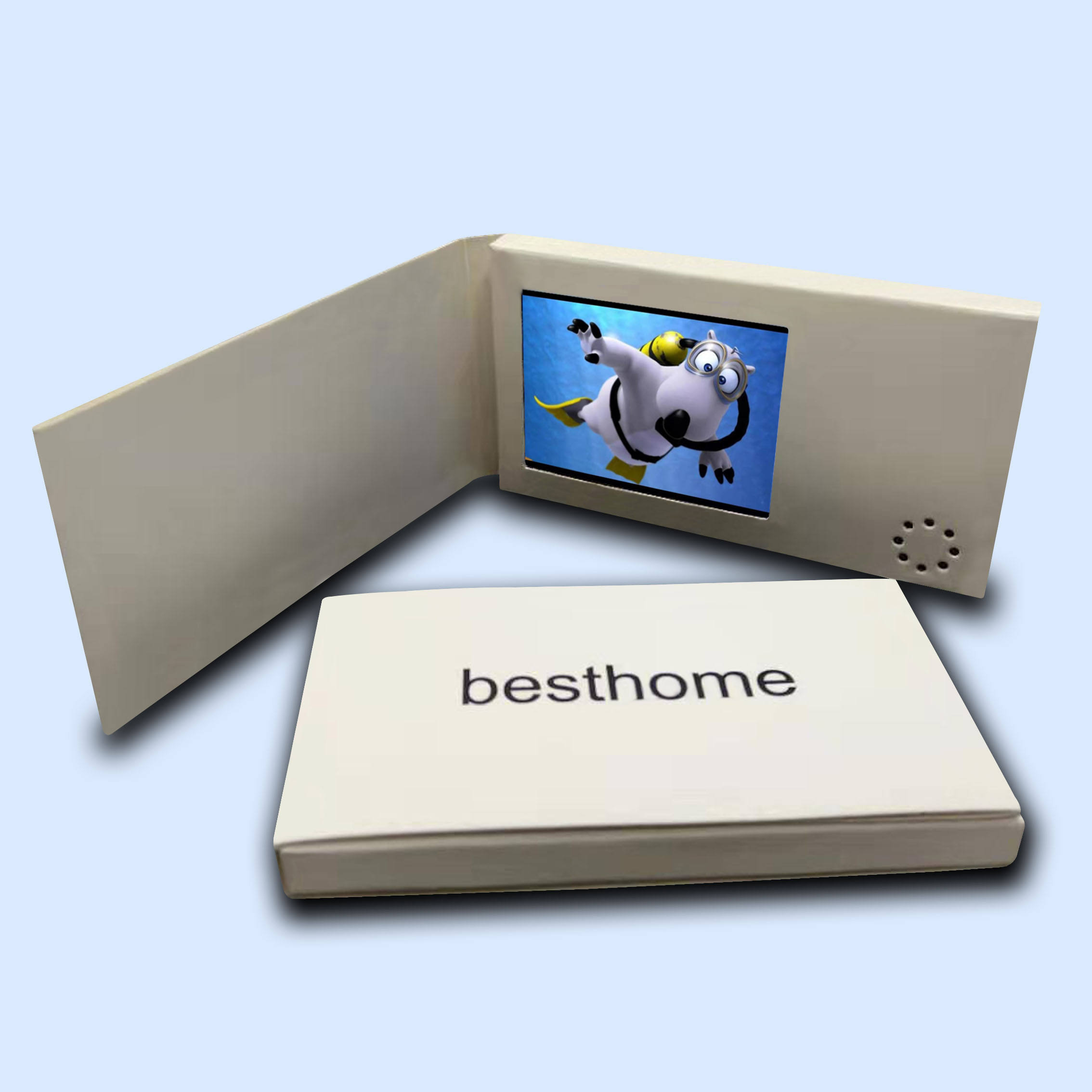 Promotional Custom Invitation Greeting Card LCD Screen Lcd Book Video Brochure Card