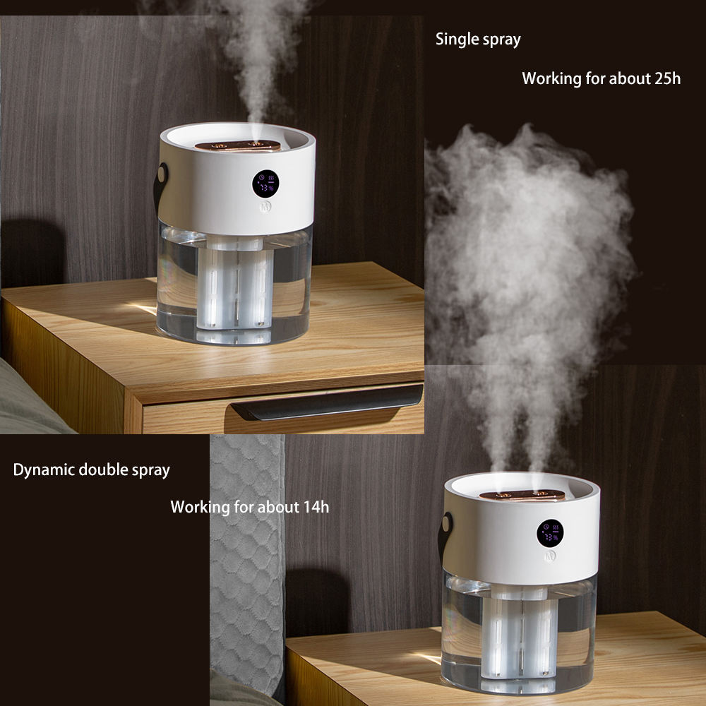 Humidifier Humidifier OEM 2L Rechargeable Household Desktop Top Fill Humidifier Ultrasonic Cool Spray Mist Portable Mini USB Wireless Air Humidifier
