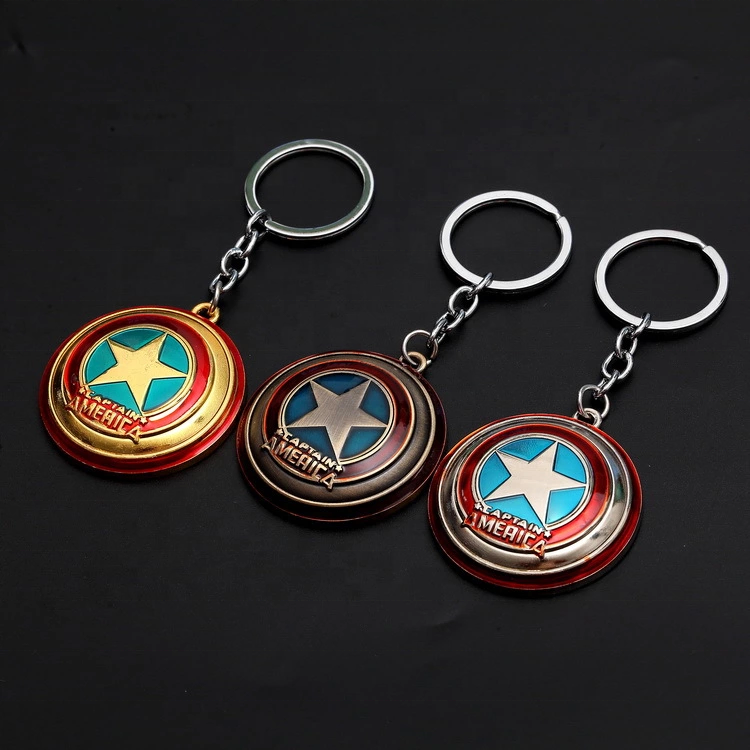Avengers captain America iron man car key chain personalized men and women's bags pendant cartoon small gift