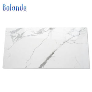 Bolande Mat and glossy full body polished porcelain carrara pure white marble bathroom wall and floor Tile