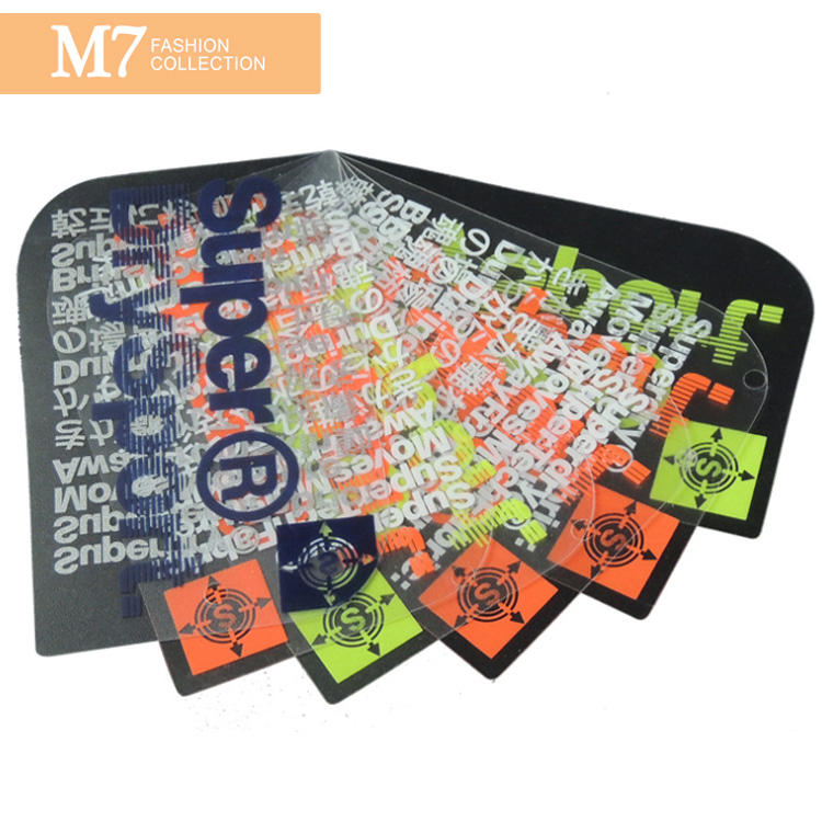 DP144 New Design Printing Logo Custom PVC Clothing Tag Fashion Designed Shape Color Logo Plastic Waterproof Hangtag
