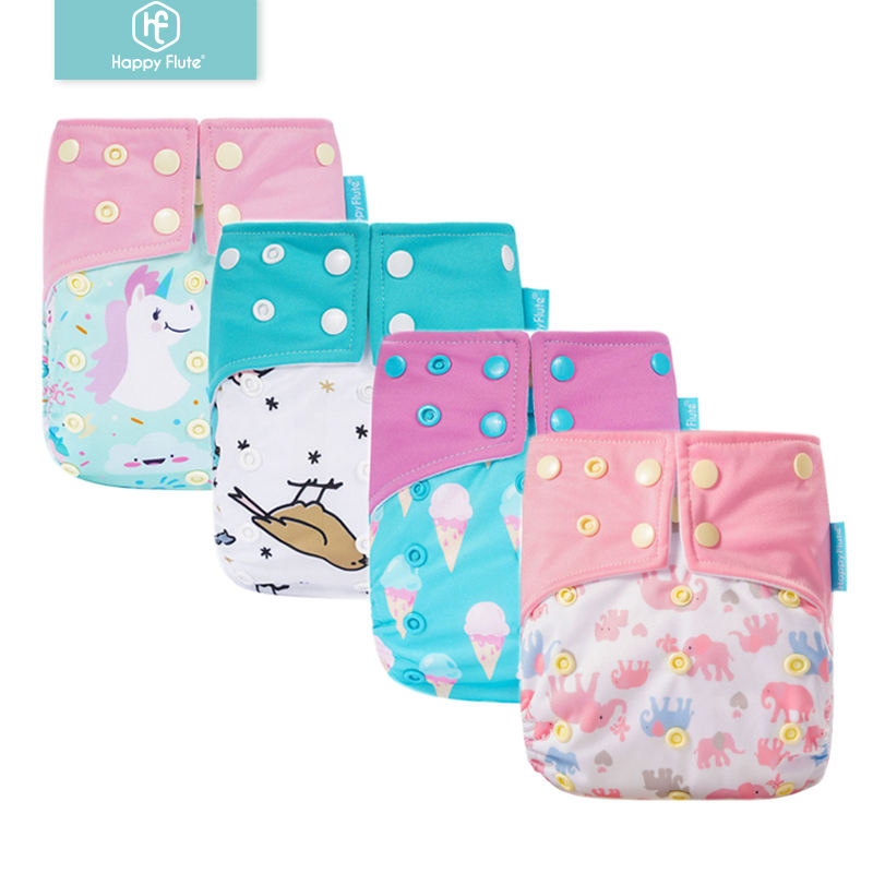 Happyflute New Design Ecological washable pocket diaper Reusable suede cloth diaper wholesale