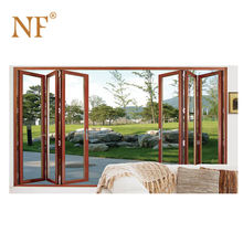Solid core wood timber folding bifold foldable accordion Patio doors