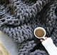 Chenille Throw Blanket - Blankets and Throws for Sofa - Large Throw Blanket (Slate Gray) 50X60 INCHES