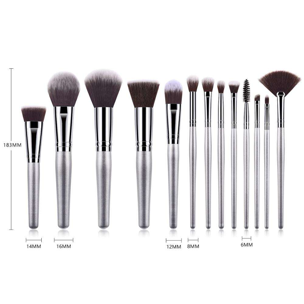 2020 best selling 13pcs cosmetic brush new design high quality fan make up brush set