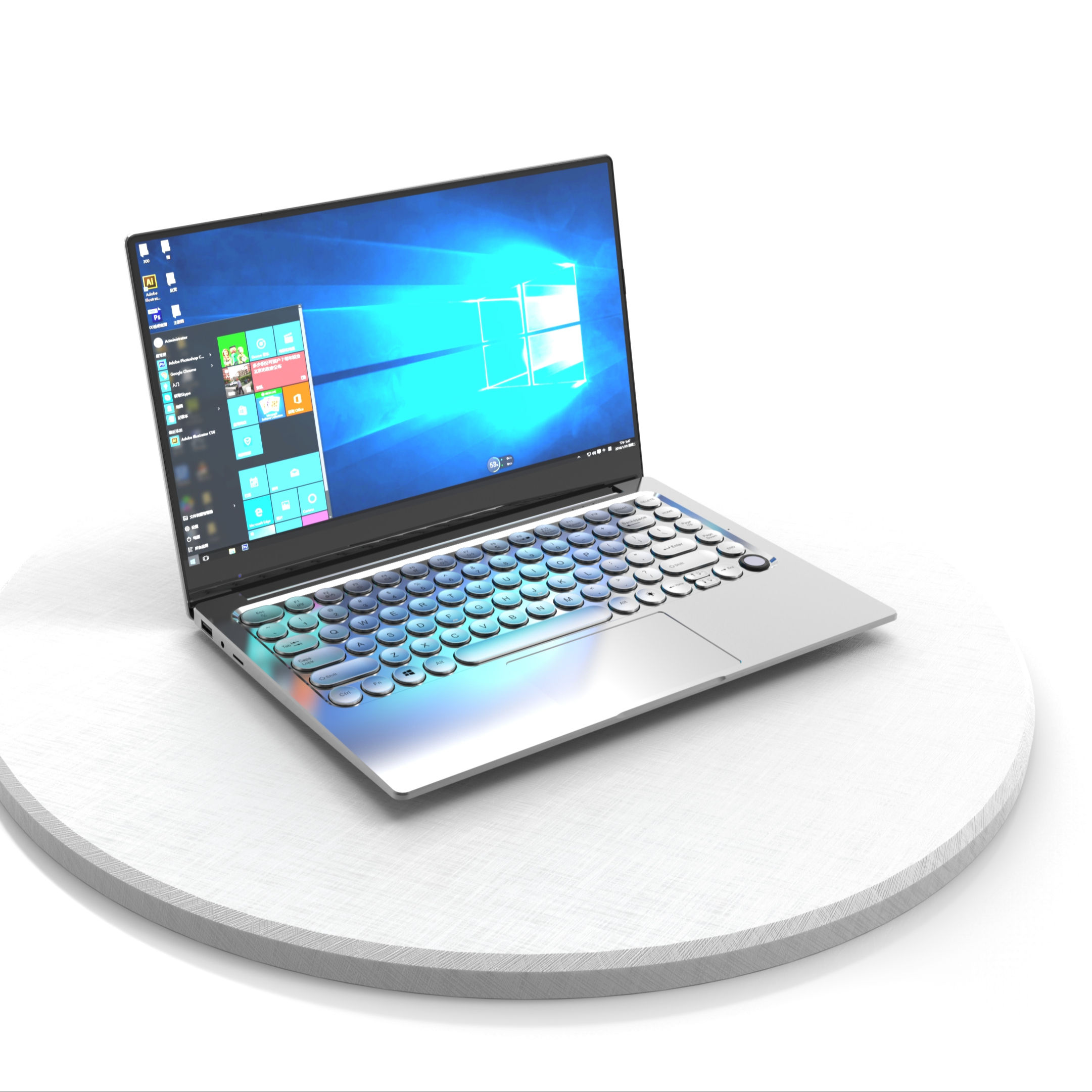 Hot selling 14 inch intel 3867u toposh laptop notebook computer with backlit keyboard num unlock in stock