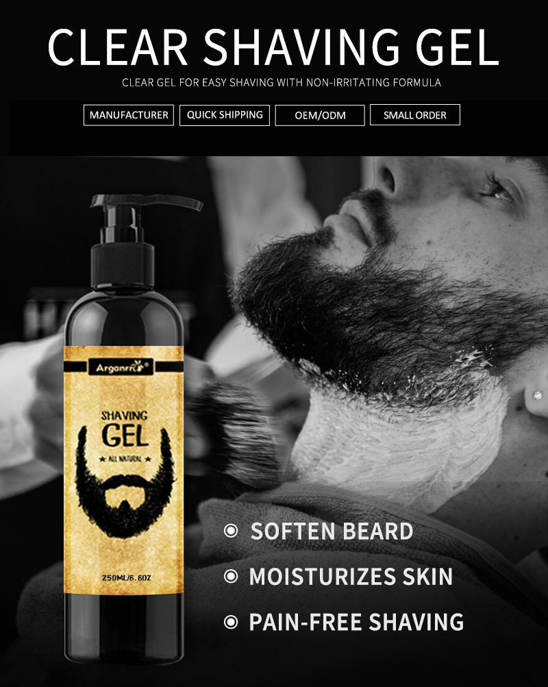 Shaving Gel Private Private Label Soften Moisturize Beard Pre Shave Mens Shaving Gel With Your Logo Can Get 100 Combs For Free