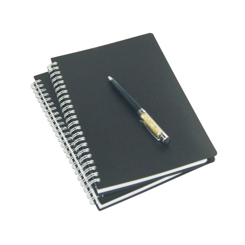 A5 Black PP Cover Coil Notebook Bandage Planner Agenda Organizer Notepad Word Book Office & School Supplies