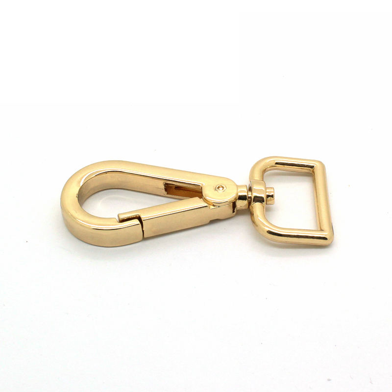 Customized nickle metal zinc alloy belt strap buckle or dog rope leash hook for bag swivel hook dog snap hook