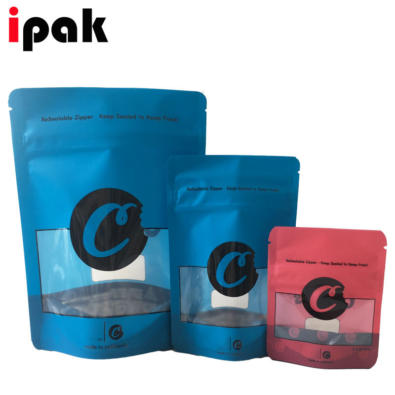 Hottest Child Proof Cookies Packaging Bags Stand Up Pouch in stock