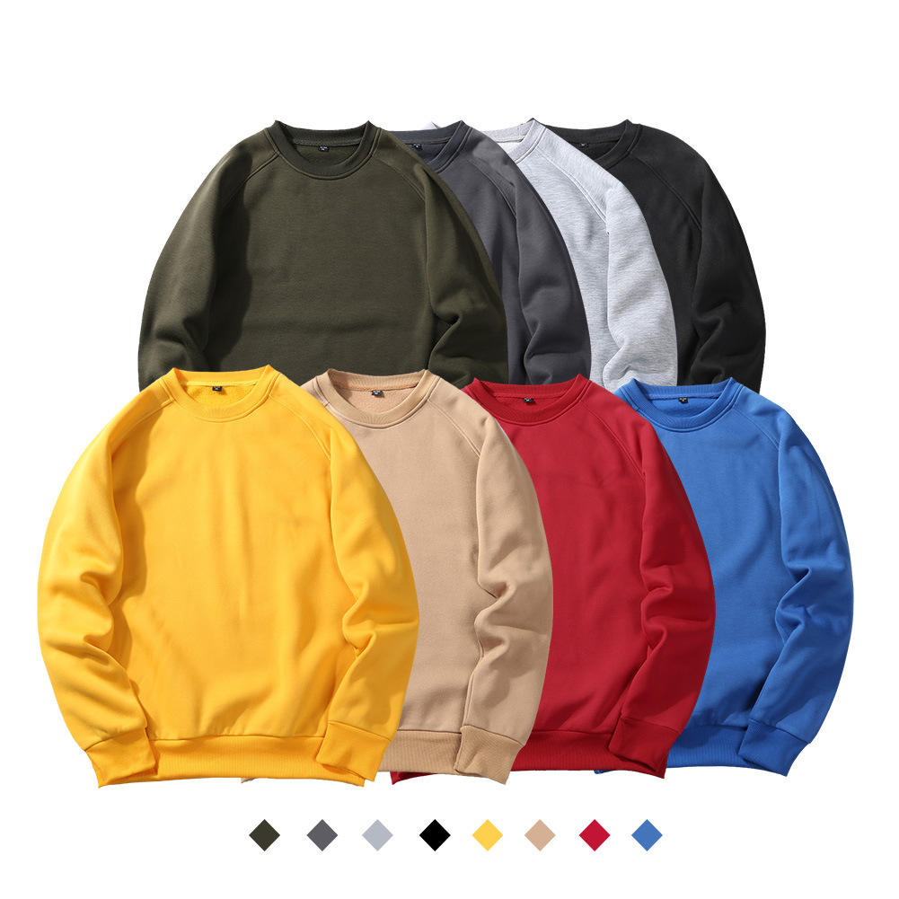 Men Custom Pullover women thick fleece adults thermal leisure sweater