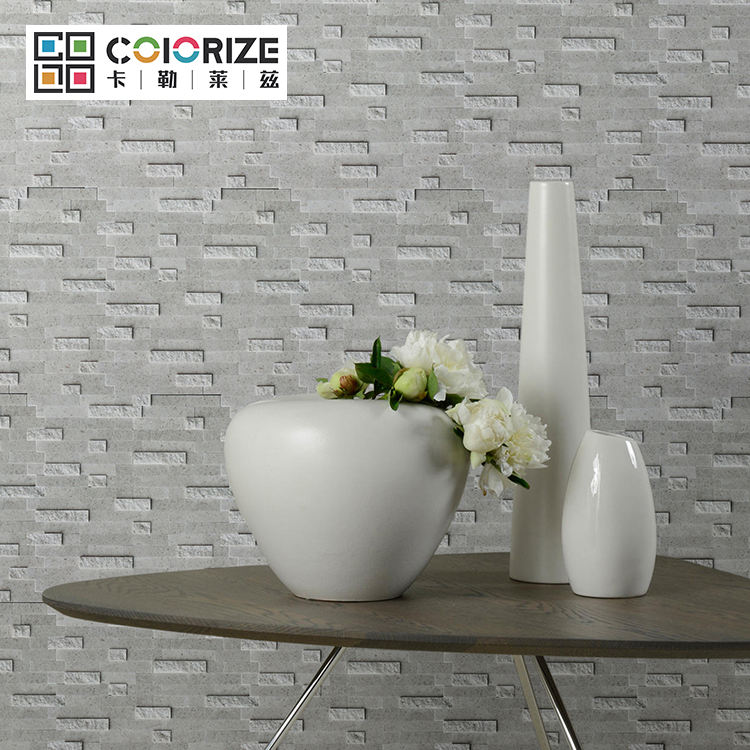 300x300mm 4-8mm Grey liner strip Stone Peel Stick Mosaic wall Mosaic irregular size high quality strip gray color mosaic tile