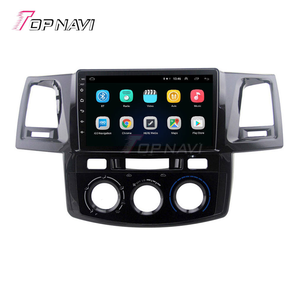 9'' Auto Electronic GPS Navigator Car Radio Player For Toyota Hilux Fortuner 2008 2009 2010 2011 2012 2013 2014 Car Video Audio
