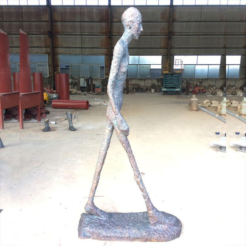 Giacometti Bronze art deco Life size yard art bronze statue walking man bronze famous statue sculpture