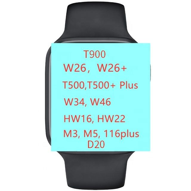 Digitale Touch Hartslag Fitness Tracker Smart Horloge W26 W26 + T500 U78 Plus T55 <span class=keywords><strong>Serie</strong></span> 6 T5 X16 Smartwatch voor Ios En Android