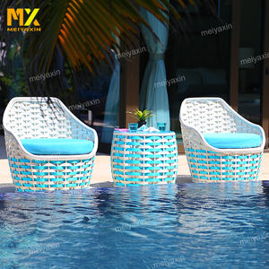 outdoor blue side table furniture patio garden swimming pool sofa set